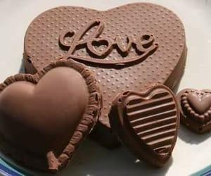 chocolate, heart, and love image