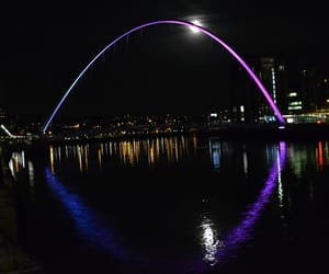 moon, travel, and newcastle upon tyne image