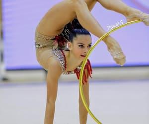 gymnastics, hoop, and rhythmic image