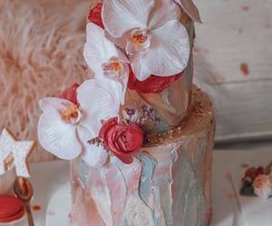cake, flower, and frosting image