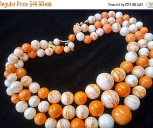 beaded necklace, etsy, and vintage jewelry image