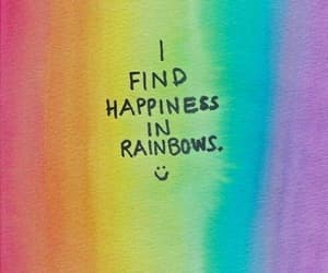 rainbow, happiness, and quotes image
