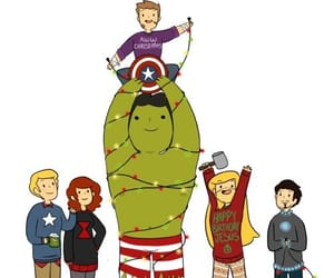 Avengers, black widow, and Hulk image