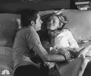 bed, morning, and couple image