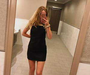 black, dress, and pinafore image