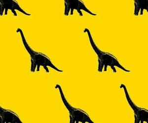 dinosaur, wallpaper, and yellow image