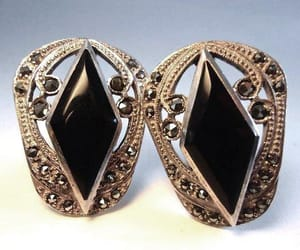 art deco, earrings, and etsy image
