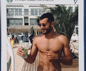 beach, handsome, and sexy image
