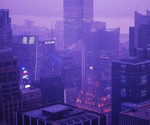 purple, city, and grunge image