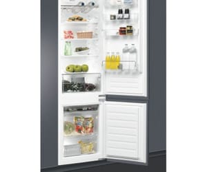 whirlpool, home appliances, and built in fridge freezer image