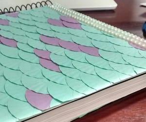 diy, mermaid, and notebook image