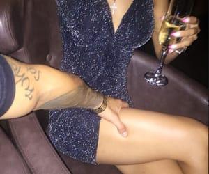dress, tattoo, and couple image