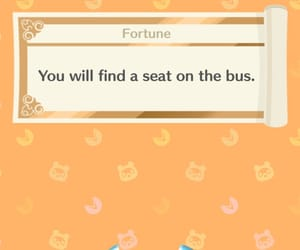 animal crossing, bus, and fortune image
