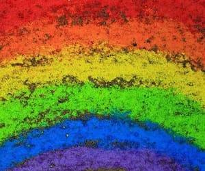 rainbow, chalk, and color image
