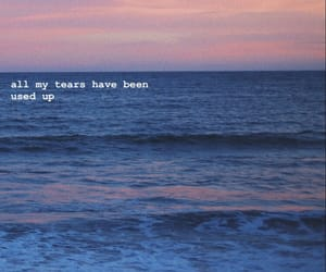 beach, broken, and crying image
