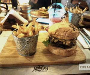 burger, piclab, and drink image