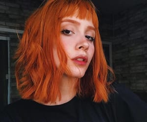 orange, ginger, and girl image