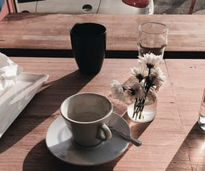 beige, coffee, and flowers image