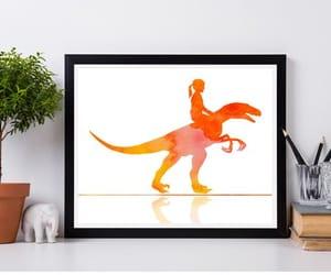 animal print, nursery, and watercolor painting image