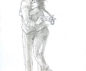hug, the hunger games, and katniss image