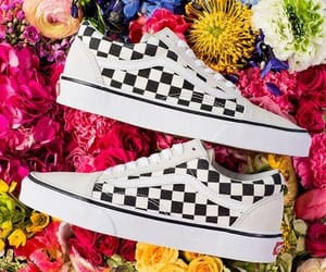 flowers, vans, and sneakers image