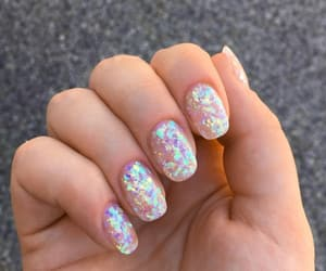 nails, aesthetic, and holographic image