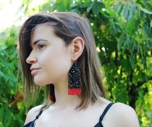 handmade earrings, statement earrings, and long earrings image