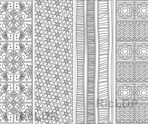 abstract pattern, flower design, and seamless pattern image