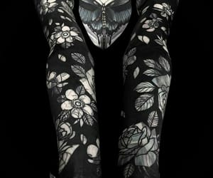 beauty, ink, and black image