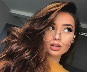brunette, curls, and irisloveunicorns image