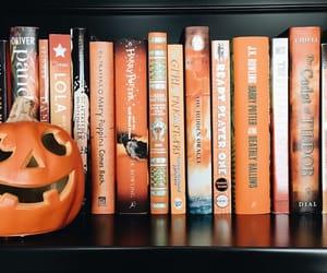 autumn, books, and bookshelf image