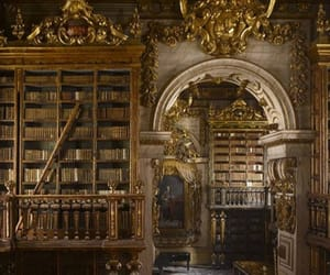 aesthetic, library, and old image