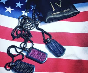 diamonds, dog tag, and necklace image
