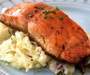 salmon recipes, glazed salmom recipe, and glazed fish recipes image