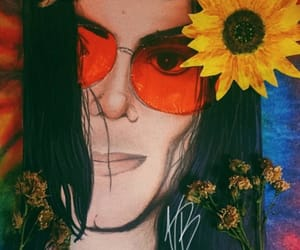 art, hippie, and michael jackson image