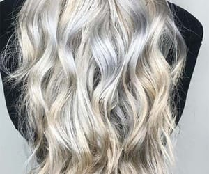 curls, silver hair, and gold hair image