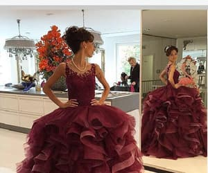 pretty prom dress, modest prom dress, and evening dress lace image