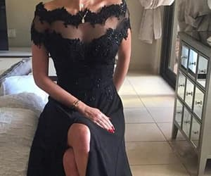 prom dresses for cheap, black lace prom dresses, and prom dresses black image