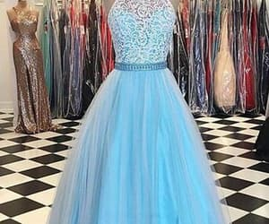 sleeveless evening dress, prom dress for cheap, and evening dress lace image