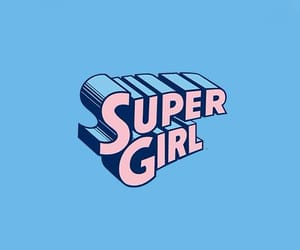 girl, blue, and pink image