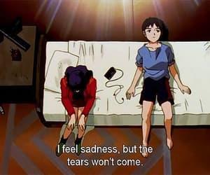 anime, sad, and Neon Genesis Evangelion image