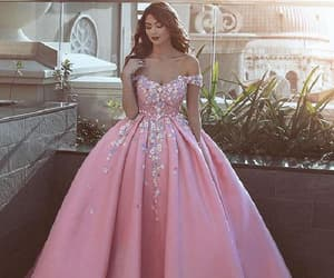 long prom dresses, pink evening dress, and 2018 evening dress image