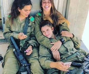 army, girls, and gun image