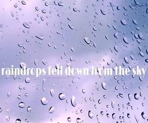 Lyrics, music, and raindrops image