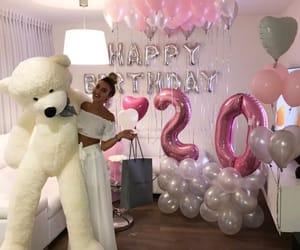 girl, balloons, and birthday image