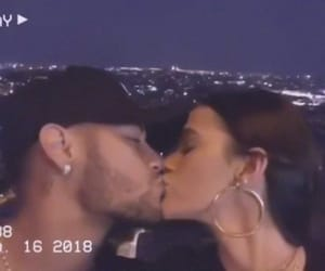 couple, paris, and neymar image
