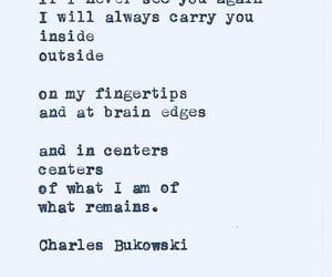 charles bukowski, poem, and words image