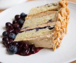 blueberry, cake, and cheese image