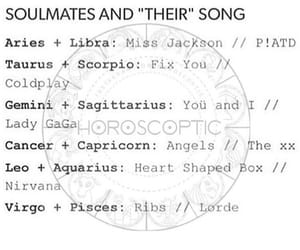 post, soulmate, and zodiac image