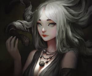 dragon, fanart, and girl image